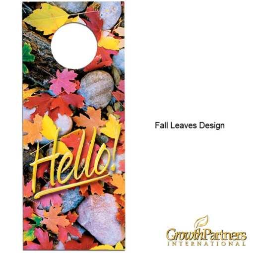 fall leaves door hanger design