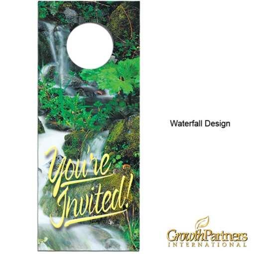 waterfall design door hanger