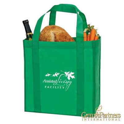 Grocery Tote for marketing materials for assisted living facilities