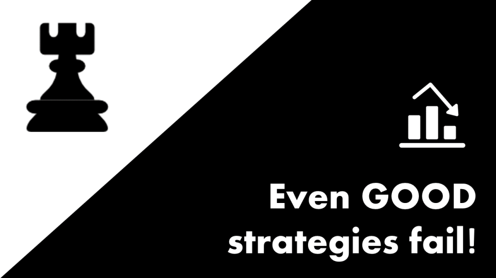 Even good strategies fail