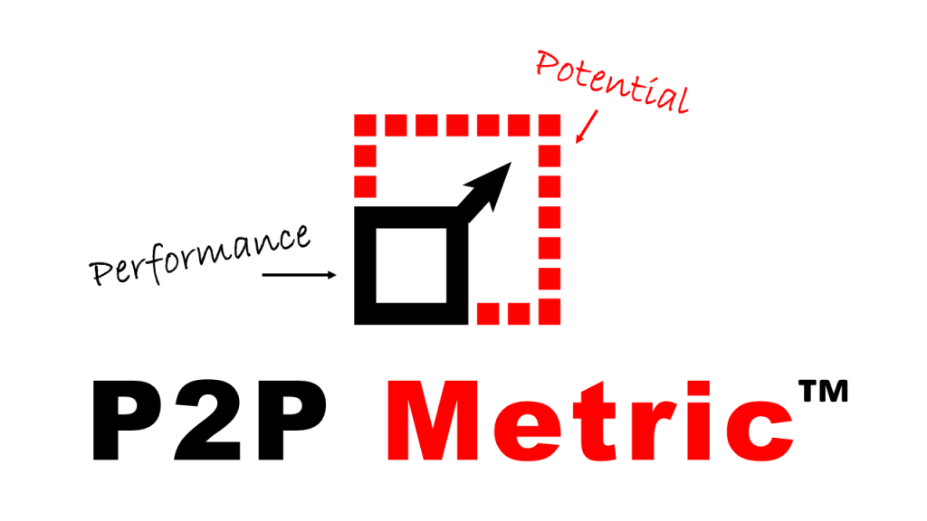 ratio of performance to potential called the P2P Metric™.