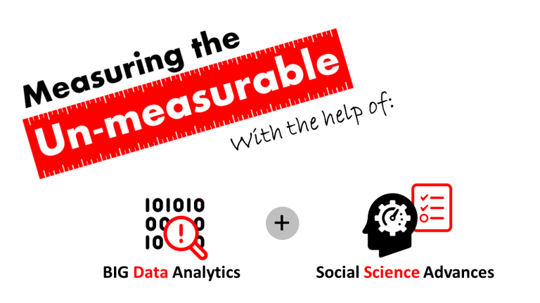 Measuring the un-measurable thanks to BIG data analytics and advances in the social sciences