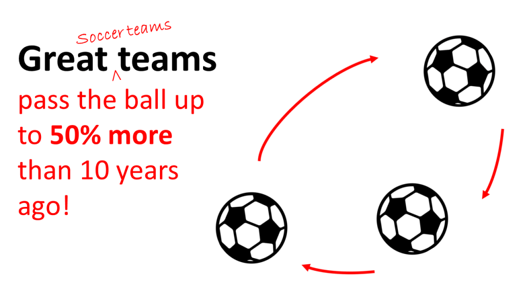 Great teams pass the ball