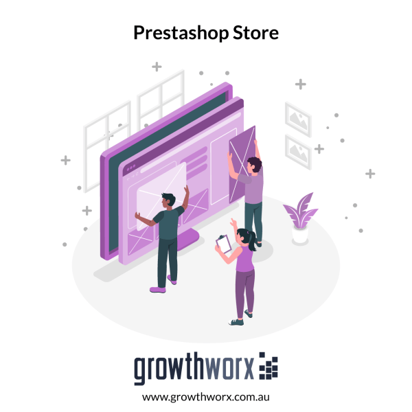 Create a Prestashop store (7 pages) with default module and theme 1