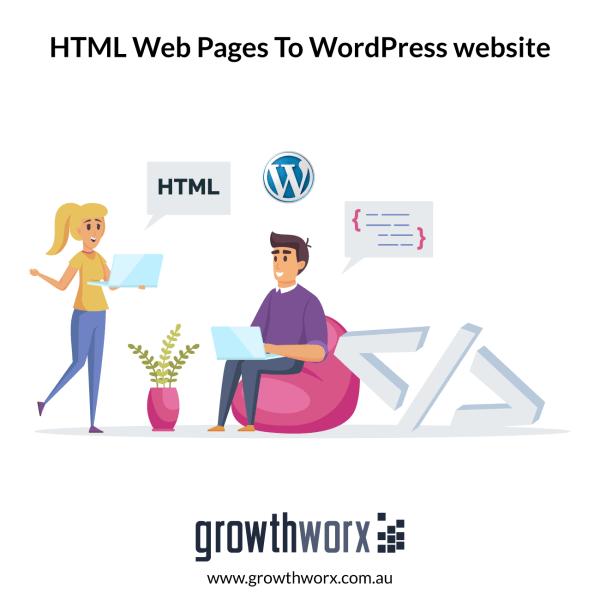Convert ten HTML web pages to a WordPress website 1