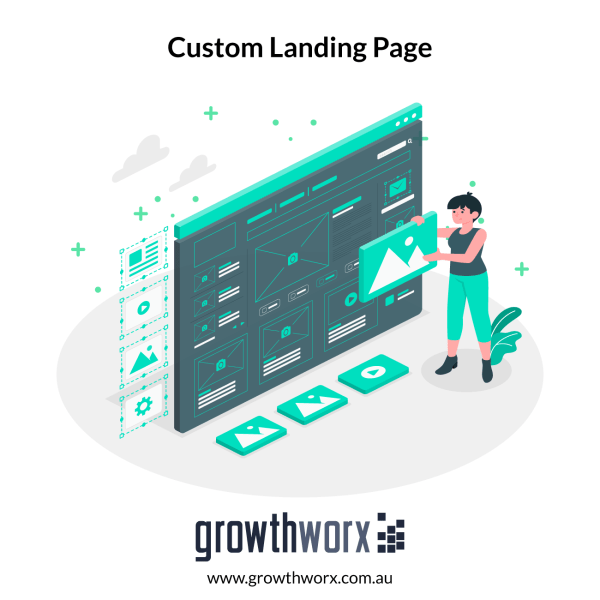 Design and build a custom landing page with up to 8 sections and sales boosters 1