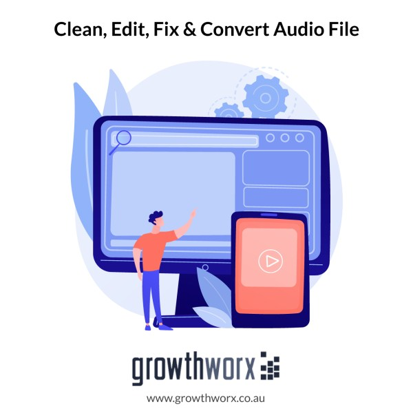 I will clean, edit, fix and convert your audio file 1