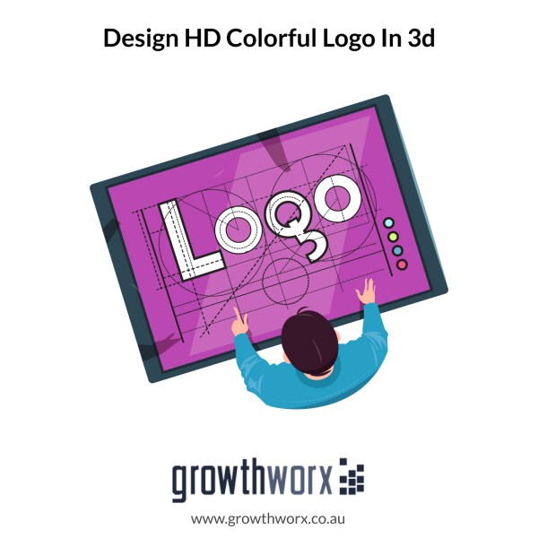 We will design an HD colorful logo in 3d 1