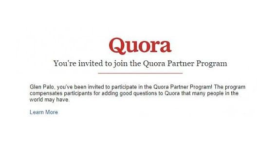 Quora Invitation