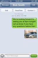 Texting best practices automotive