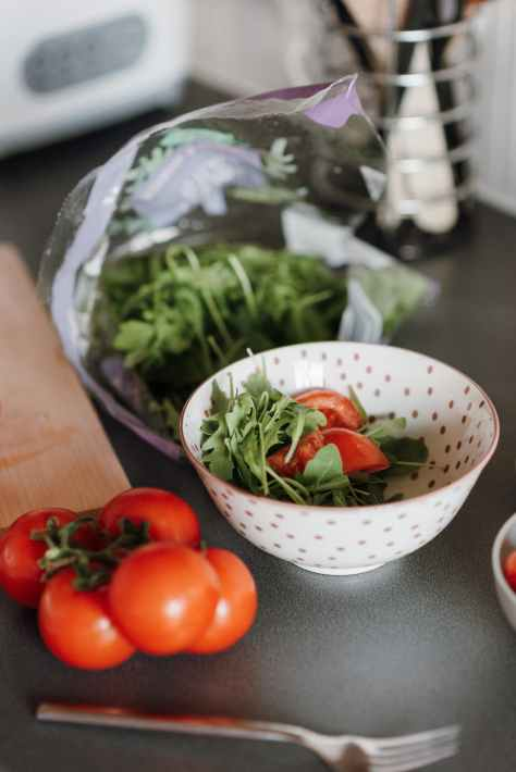 fresh cut vegetable in bowl in kitchen