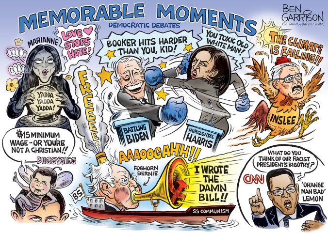 Image result for democratic debate free for all cartoon
