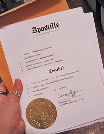 an apostilled document, apostille documents for korea