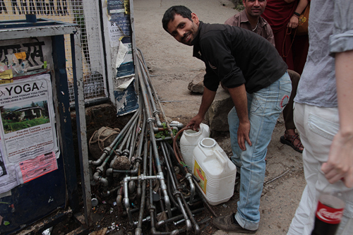 water in dharamsala, clean water in india, bad water in india, water filter systems in india