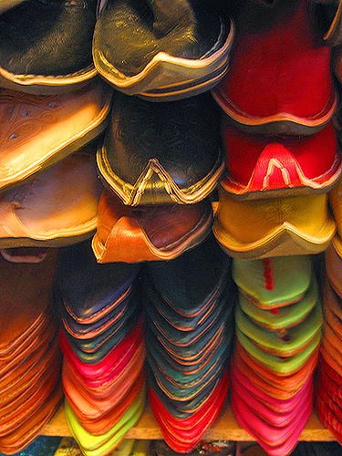 Moroccan leather goods
