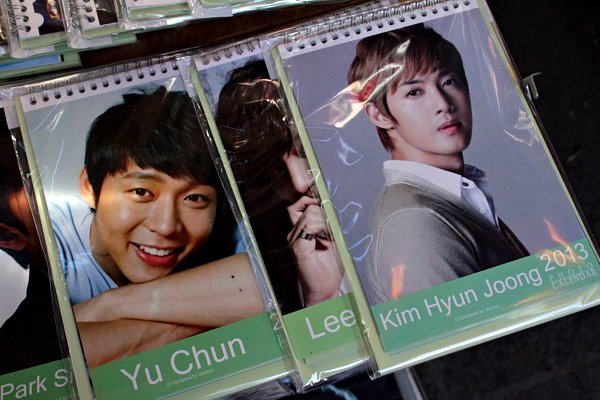 park yoochun calendar, kim hyun joong calendar, where to buy korean drama calendars, favorite korean drama stars