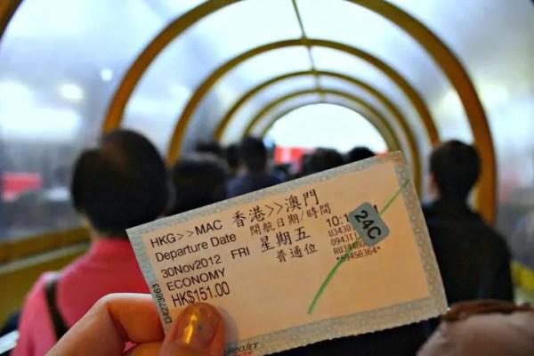 ticket to the macau ferry, catching the ferry to macau