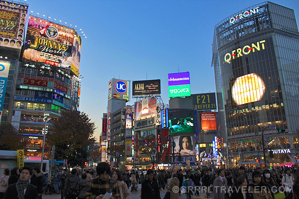 shibuya crossing, crowds in japan, Getting Around Tokyo on the cheap and easy