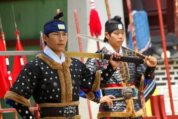 hwaseong palace, hwaseong sword performance