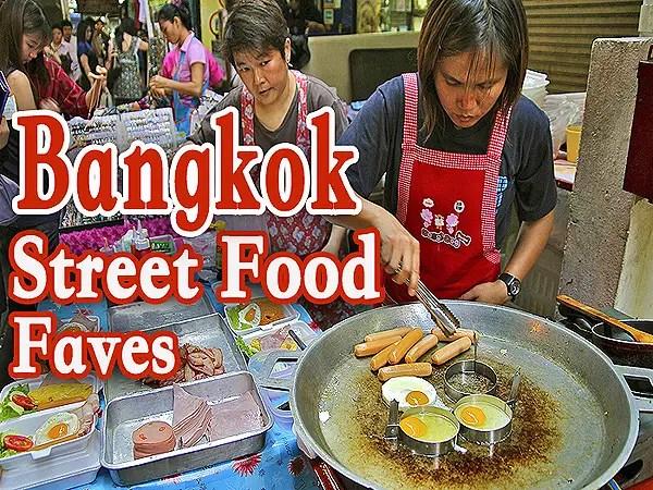 16 Top Bangkok Street Foods, 16 popular bangkok street food, bagnkok street food