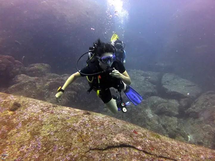 scuba diving grrrltraveler, scuba diving wicked diving