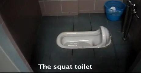 squat toilet in Korea
