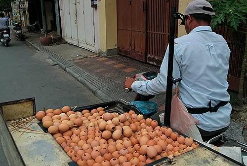 Egg seller weird foods