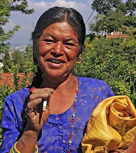 Chobhar Village worker lady