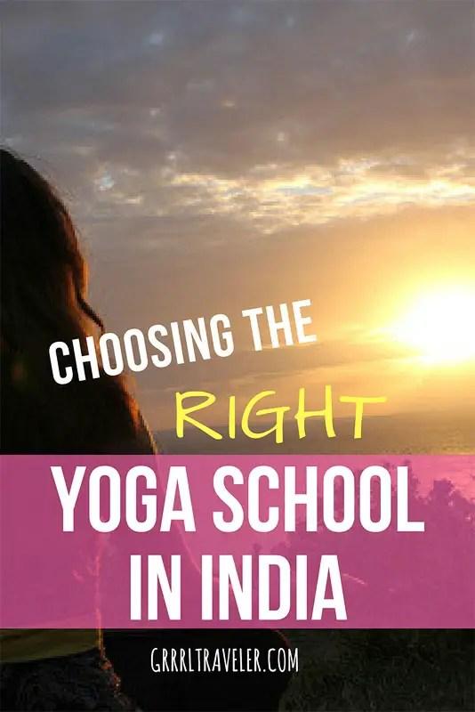 Choosing the right yoga shcool in india