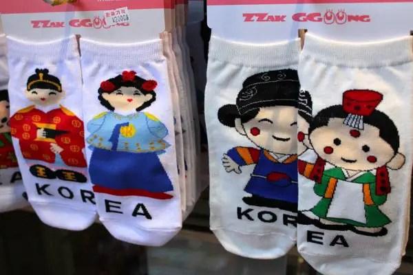cute korean socks, oppa socks in korea, where to buy korea souvenirs, where to buy korean socks