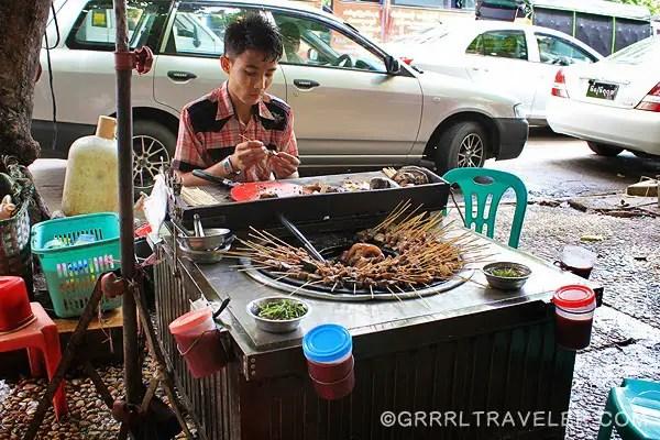 street foods in Asia, street food in Myanmar, Burmese street food