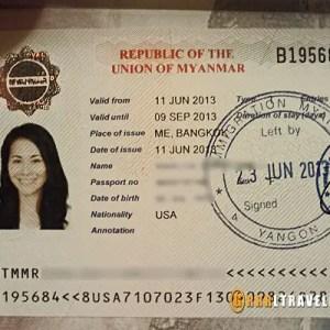 myanmar visa, burma visa GRRRLTRAVELER