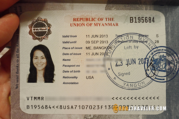 myanmar visa, burma visa GRRRLTRAVELER, how to get a myanmar visa in bangkok, getting a burmese visa in bangkok, getting a myanmar visa in bangkok