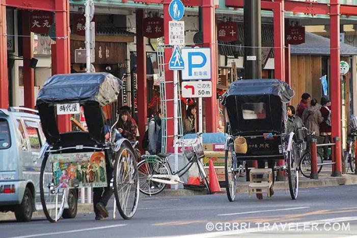 japan rickshaws