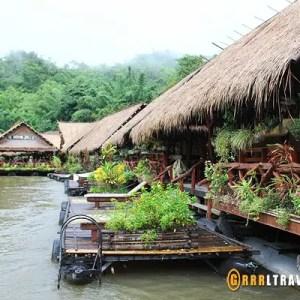 river kwai floating hotel, thailand floatel, kanchanaburi hotel, best kanchanaburi hotels, thailand floating hotel