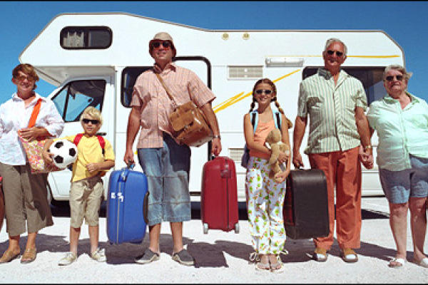 RV family, traveling by RV with your family, family trip