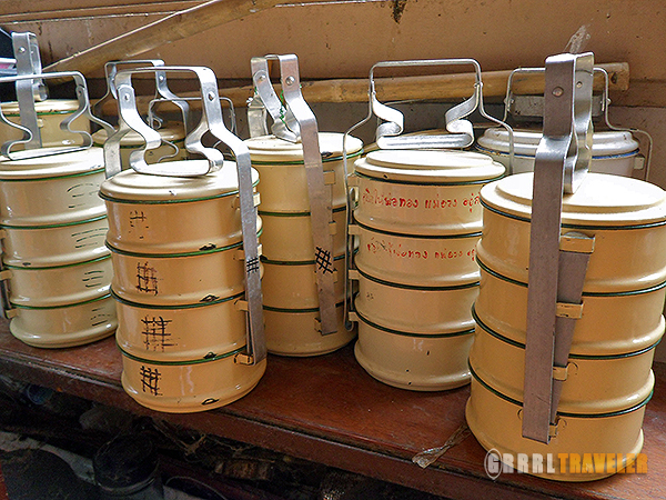 tiffen containers, tiffens, monks take alms thailand