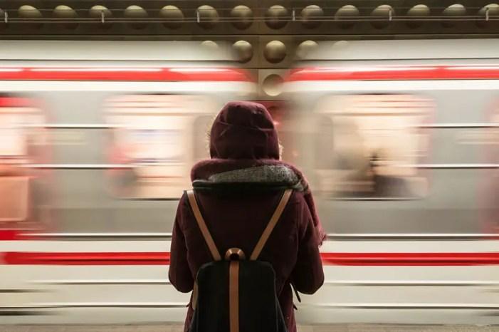 girl at metro, new york subway