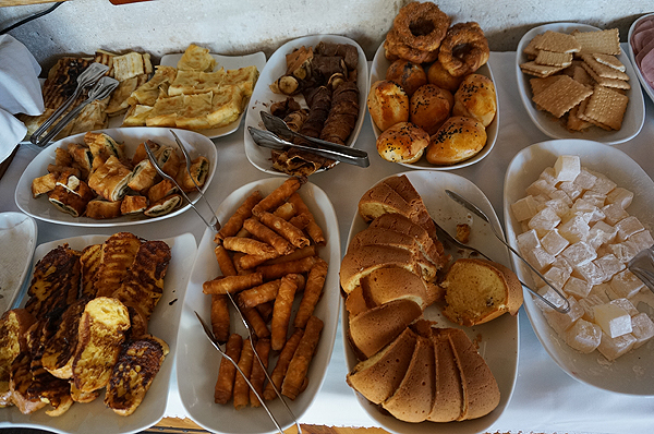 kelebek hotel, turkish breakfast buffet