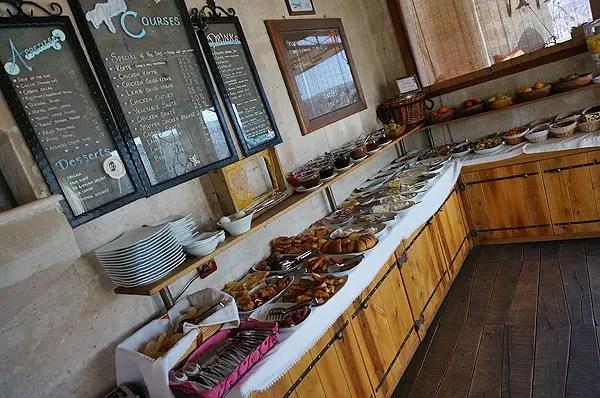 kelebek hotel, turkish breakfast