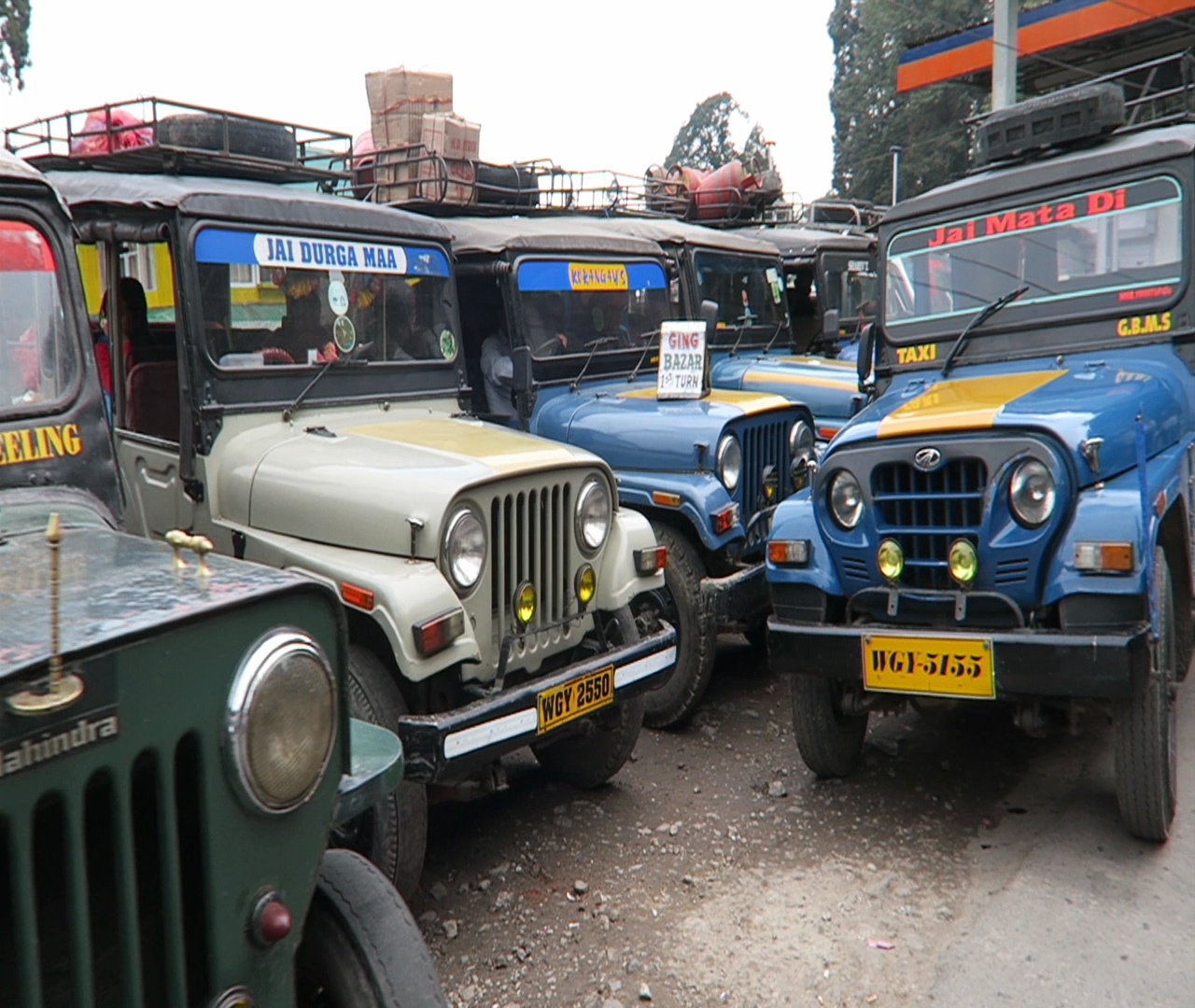Taking a Jeep taxi from Darjeeling to Pelling, how to reach pelling, getting around sikkim