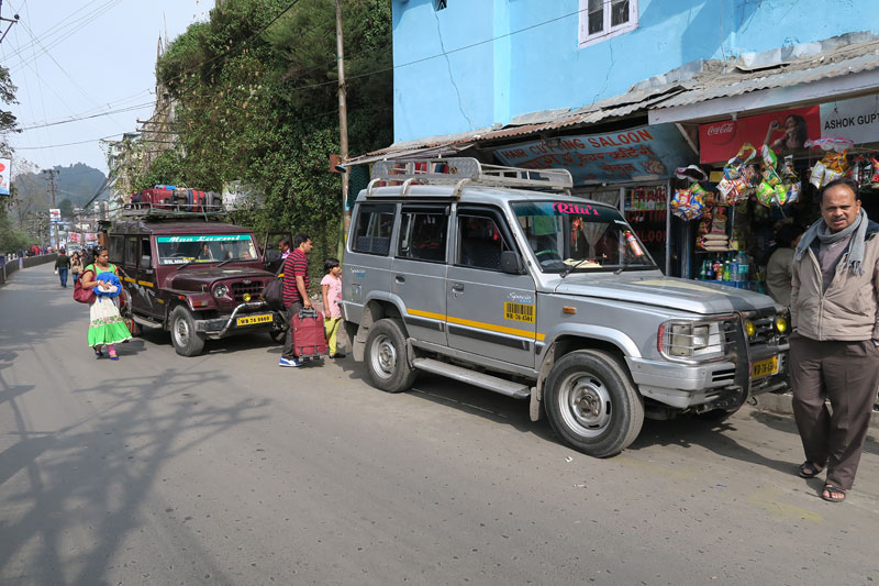 Shared jeep taxis