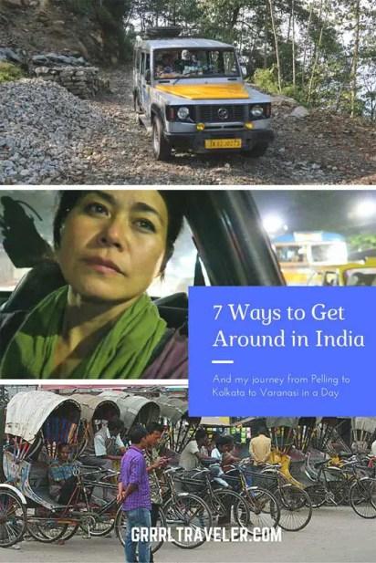 India Transportation, getting around india
