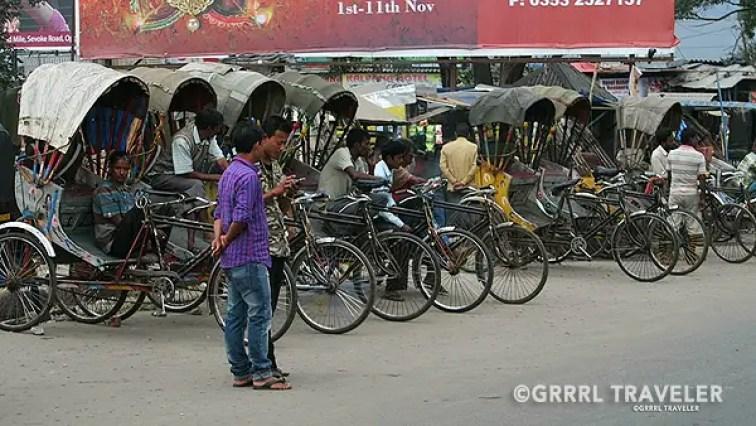 rickshaws india, ways to get around in india, getting around india
