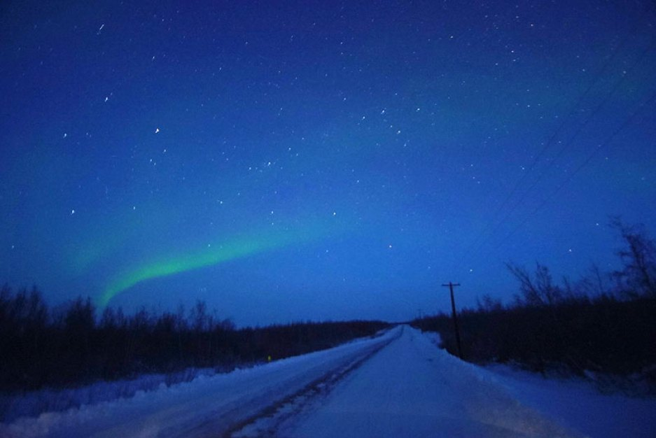 northern lights from Inuvik