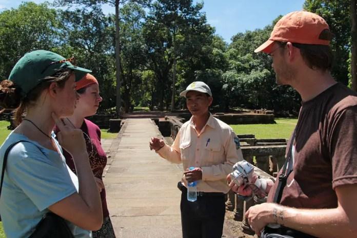 hiring a guide for Angkor Wat