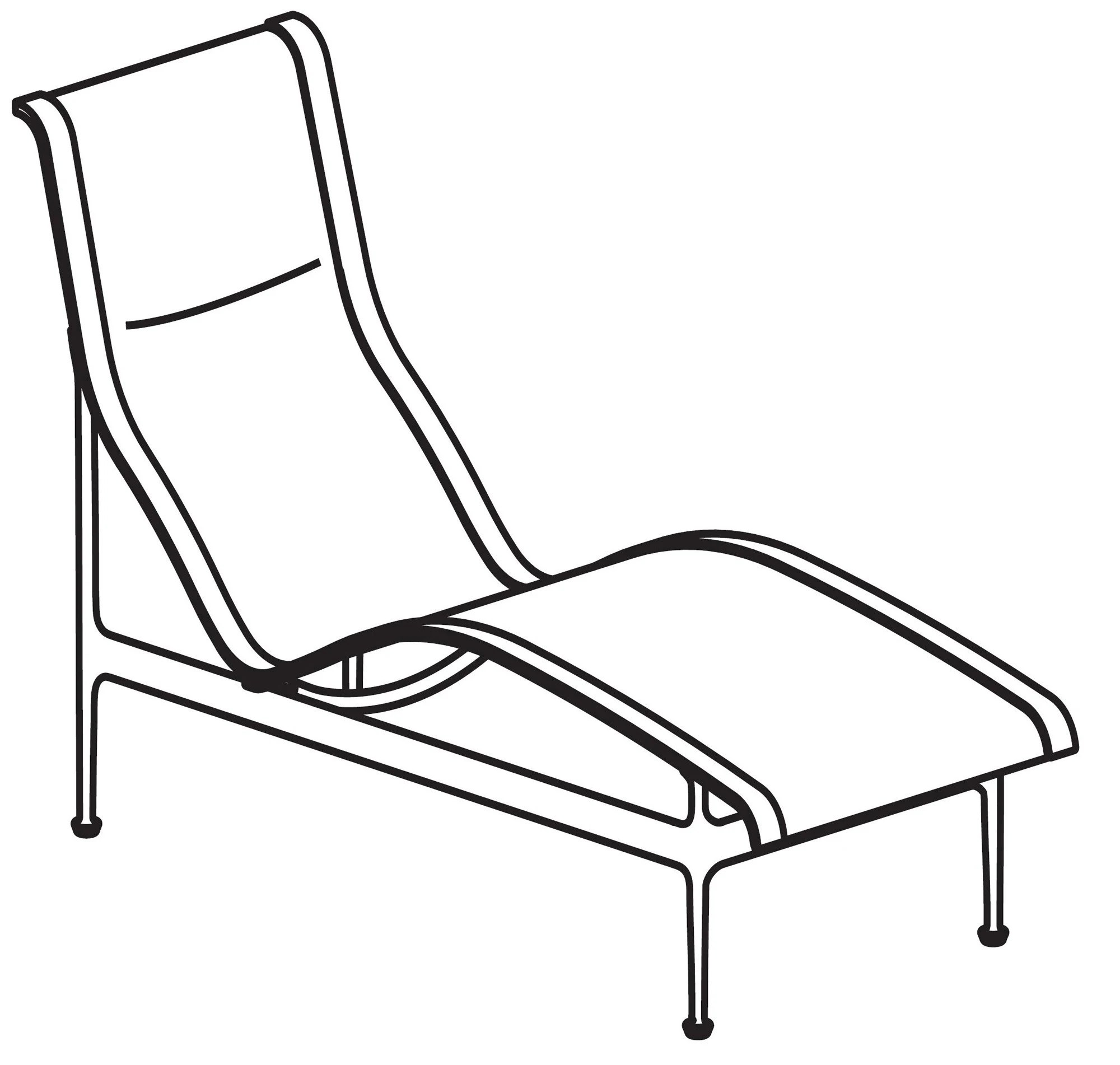 Richard Schultz Collection 41 Contour Chaise Lounge