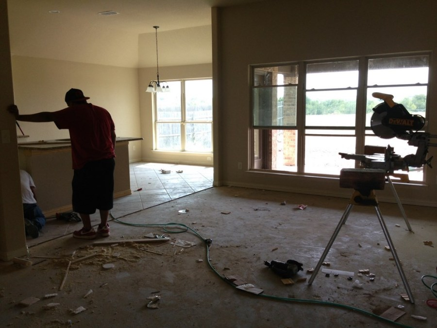 New Beautiful House Rough Post Construction Clean Up Service in Justin, Texas