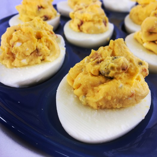 Bacon Blue Cheese Deviled Egg