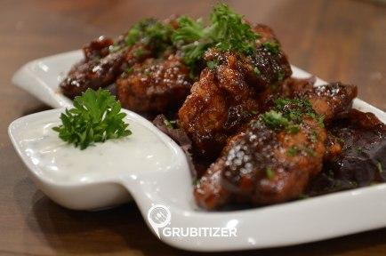 Crispy chicken with BBQ sauce